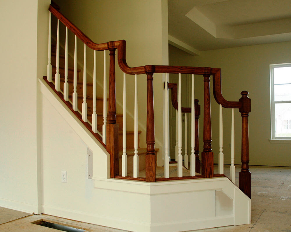 Stairs Railings Wm B Morse Lumber Co Staircase Diagram Classic And Remodeling 1000x800 0013 Stair Traditional Otp